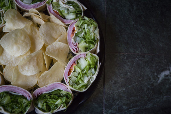 Al's Corner deli & catering wrap tray